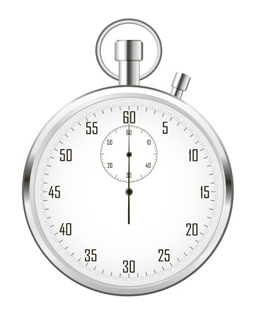 stop time: Stopwatch (or chronometer) isolated on white background.