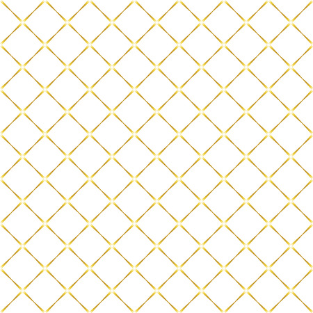 Seamless pattern in white and gold colors. Abstract geometric background of rhombuses. Vector illustration.