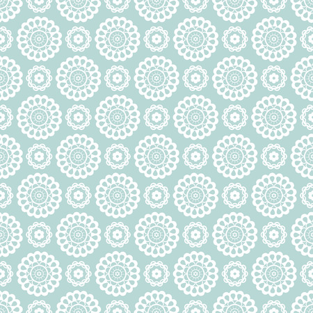 vintage paper: Seamless pattern with lace elements. Delicate background in pale blue and white colors. Vector illustration.
