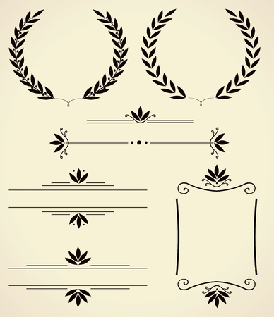 dingbat: Vector set of various elements for design and page decoration.