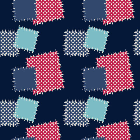 patches: Seamless background with varicolored patches. Vector illustration. Illustration