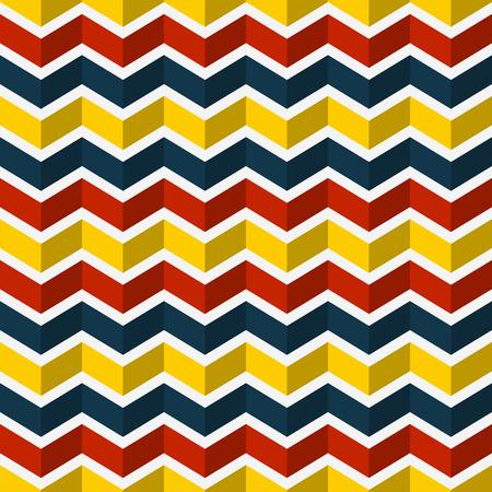 pop art herringbone pattern: Seamless chevron pattern. Colorful abstract background. Vector illustration.