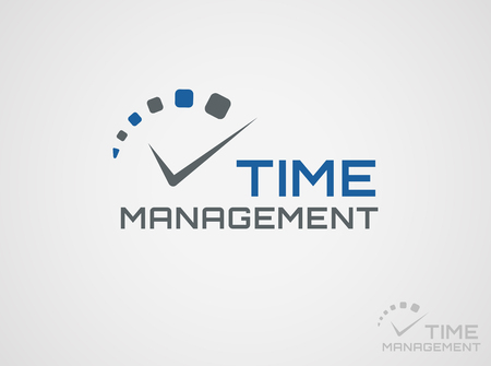time clock: Time management template. Concept icon isolated on white background. Vector symbol.