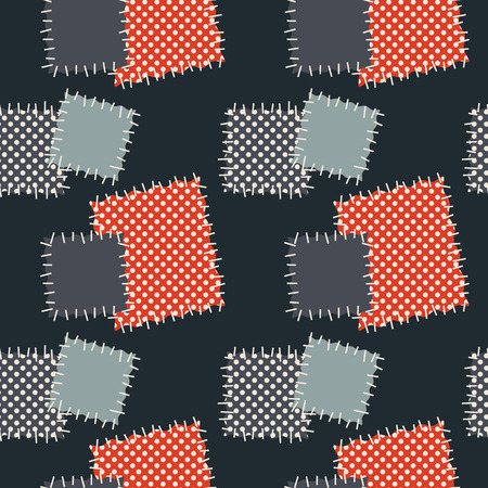 dingy: Dingy seamless background with patches. Vector illustration. Illustration
