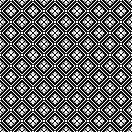 oriental pattern: Black and white seamless pattern. Oriental ornament.  Vector background. Illustration