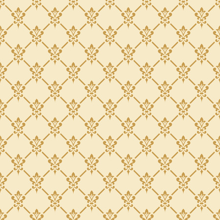 Damask wallpaper. Elegant background in Victorian style. Elegant vintage ornament in neutral colors. Vector seamless pattern.