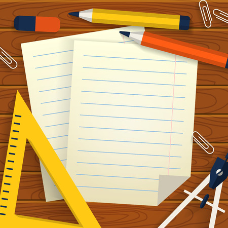 63327 Stationery Paper Cliparts Vector And Royalty Free – Lined Stationery Paper