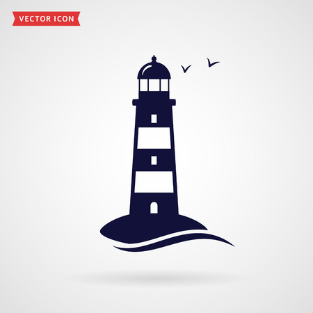 icône phare isolé sur fond blanc. symbole de vecteur.