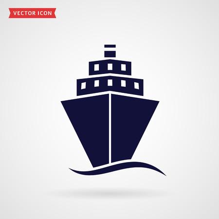 passenger transportation: Ship icon isolated on white background. Vector symbol.