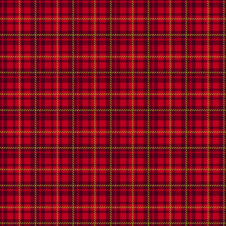 christmas plaid: Seamless tartan pattern. Traditional red scottish fabric plaid. Vector checkered background.