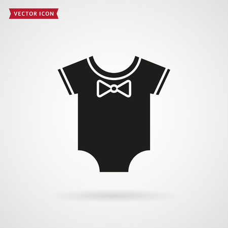 infant: Baby bodysuit icon isolated on white background. Clothes for the infant. Vector illustration.