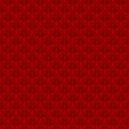 Red Damask Wallpaper Background In Victorian Style Elegant