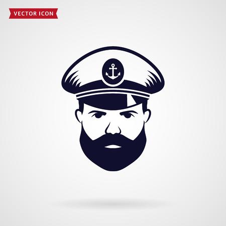 Icona del capitano della nave. Simbolo di vettore.