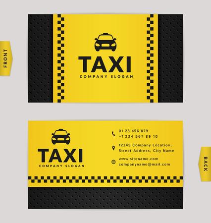 Visitenkarte Design In Schwarz Und Gelb Farben Stilvolle