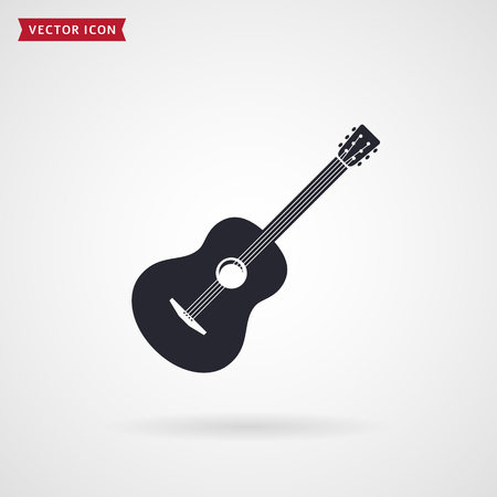 Guitar icon isolated vector illustration