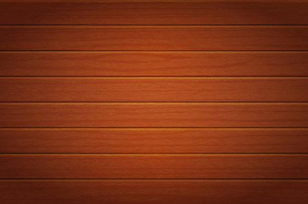 Wooden background. Vector texture of table surface. Top view. Brown wood boards.  イラスト・ベクター素材