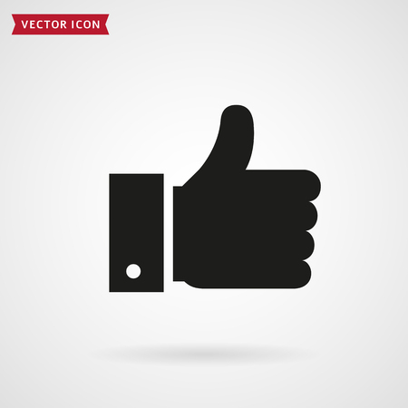 Thumbs up icon. Hand showing Like sign. Vector symbol.  イラスト・ベクター素材