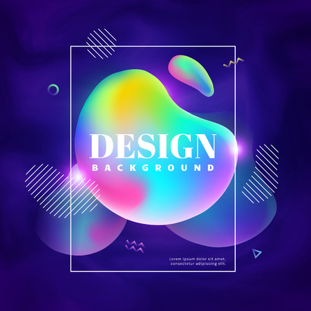 Vector background with abstract shapes and place for text. Colorful gradient bubbles. Modern banner template.