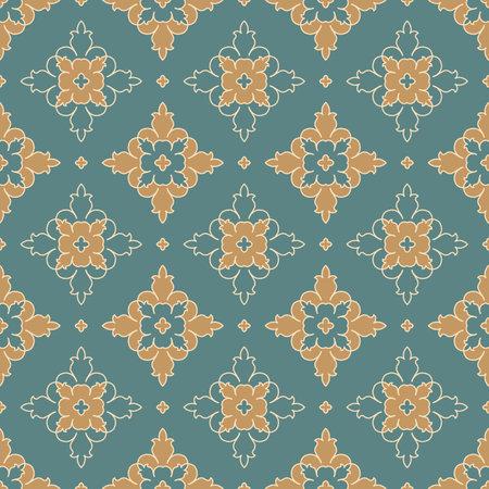 Vintage seamless pattern. Abstract vector ornament. Иллюстрация