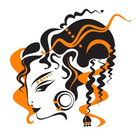 traditionally: oriental woman Illustration