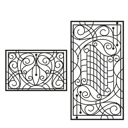lattice: The artistic forging products lattice Illustration