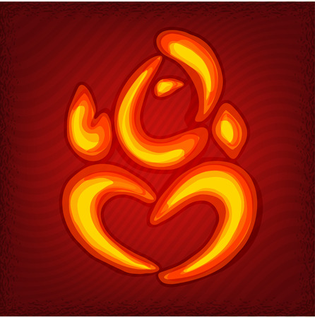 ganesha: Stylized Lord Ganesha it can be used as a print or a postcard or poster Illustration
