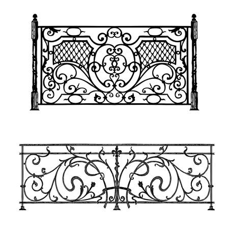 puertas de hierro: Los productos de forja art�stica celos�a Puerta de hierro forjado, valla, ventana, Grill, dise�o de Baranda Vectores