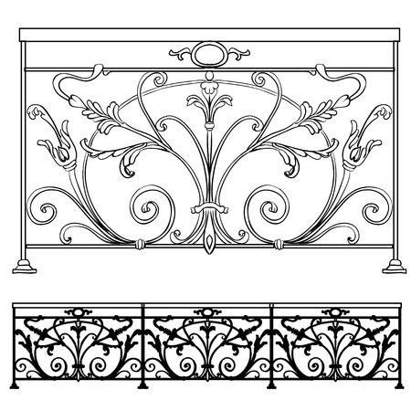 to furnish: The artistic forging products lattice Illustration