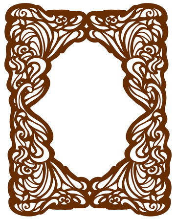 swirl patterns: Framework in style art-nouveau. Vector Illustration
