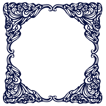 artnouveau: Framework in style art-nouveau. Vector Illustration