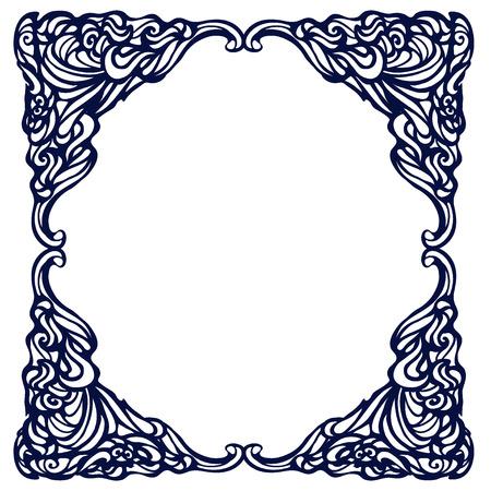 artnouveau: Framework in style art-nouveau. Vector Illustration