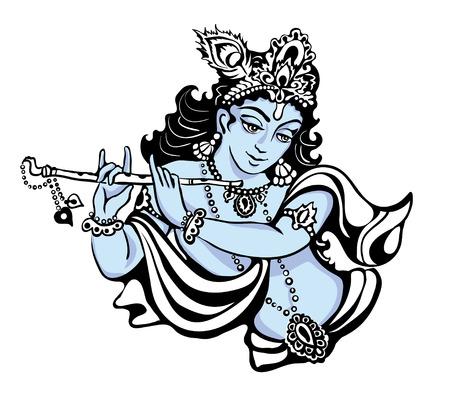 seigneur: Jeune dieu hindou Krishna