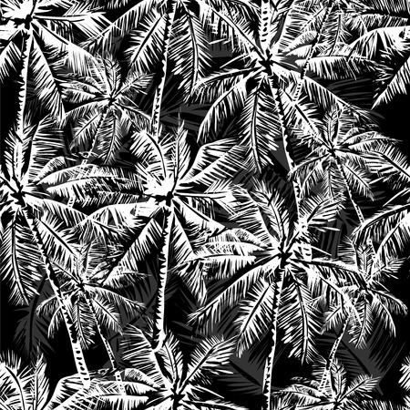palmier: Monochrome Seamless tropical