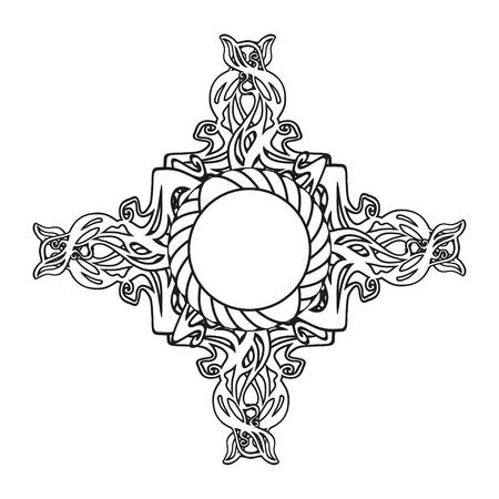 keltische muster: Zier gotisches Kreuz von keltischen Muster