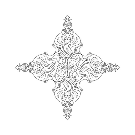 keltische muster: ornamental gothic cross from Celtic pattern