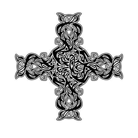 celtic: ornamental gothic cross from Celtic pattern