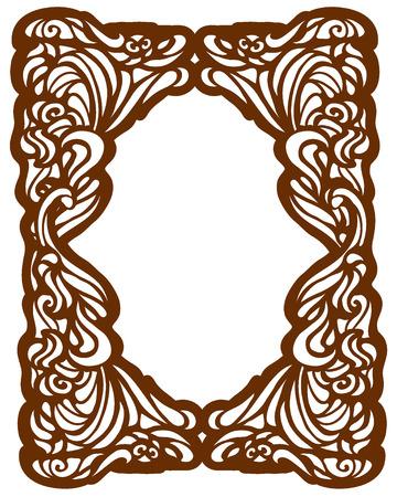 artnouveau: Framework in style art-nouveau