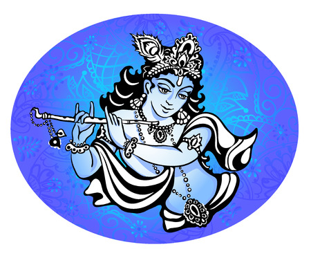 lord krishna: Hindu young god Lord Krishna. Happy janmashtami