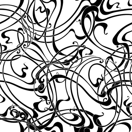 repeat pattern: Abstract monochrome seamless pattern in the Art Nouveau style Stock Photo