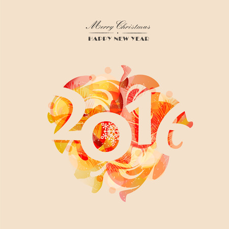 happy new year: Christmas card, poster, invitation to a colorful abstract background. Modern design. Vector illustration Illustration