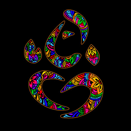 mehendi: Vector Lord Ganesha in the style of mehendi. Can be used for tattoos, postcards, posters, and print applied to the fabric. Illustration