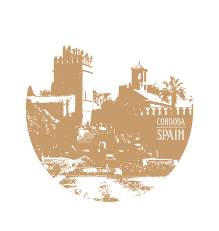 gran: Almodovar del Rio, Cordoba Spain Illustration