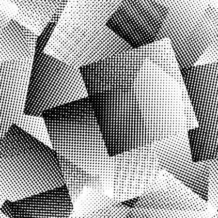 monochrome: Vector  Seamless monochrome abstract pattern Illustration