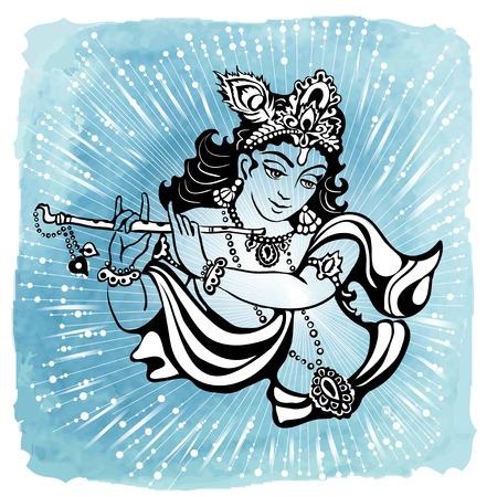 hindu god: Hindu young god Lord Krishna. Happy janmashtami