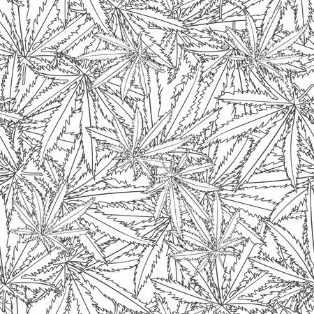 canabis: Abstract  marijuana Cannabis Seamless Pattern Background. Vector Illustration