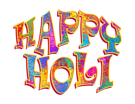 holi: Creative Abstract for Happy Holi party banner with multicolor, colorful  splash background for Holi celebration