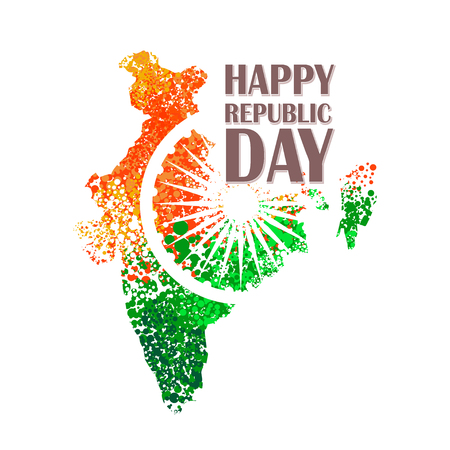 tricolor: unusual background design for Indian republic day and independence day. vector illustration Illustration