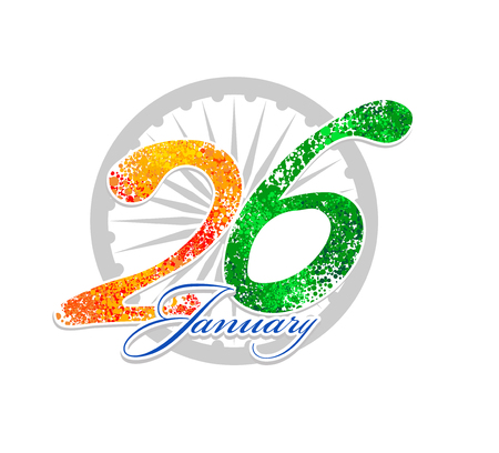 bharat: unusual background design for Indian republic day, Bharat day and independence day. vector illustration Illustration