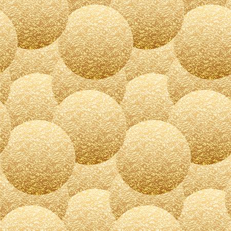 fluffy: seamless pattern of golden fluffy volume balls Stock Photo