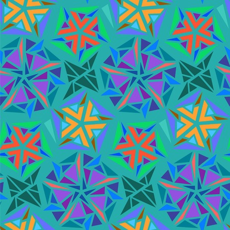 parallelepiped: Geometric abstract seamless pattern of triangles. Can be used in textiles design. Vector Geometric background.